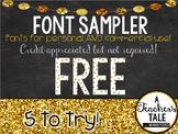 FREEBIE Font Sampler!