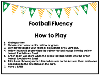 Football Fluency Addition to 10