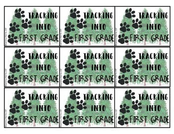 FREEBIE! Forest Theme Welcome Tags