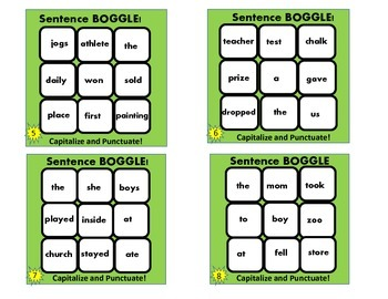 FREEBIE! Forming Sentences BOGGLE! Common Core Aligned Task Cards!