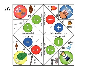 FREEBIE! Fortune Teller Game for the /f/ Sound (Articulation, Speech Therapy)