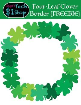 Freebie Four Leaf Clover Shamrock Frame Border St