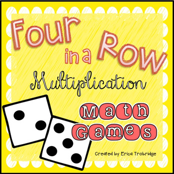 FREEBIE! Four in a Row Multiplication Games