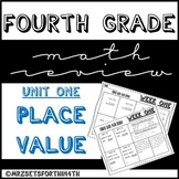 FREEBIE! Fourth Grade Math Review - Unit One - Place Value
