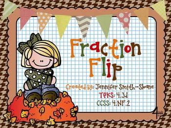 FREEBIE Fraction Flip Partner Activity (Comparing Fractions)