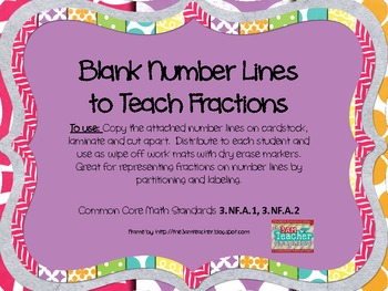 FREEBIE~ Fraction Number Lines