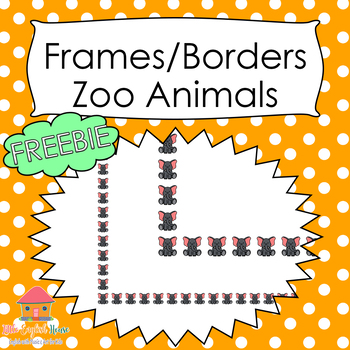 FREEBIE Frames / Pages Borders Doodles Zoo Animals for Commercial Use
