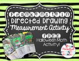 FREEBIE - Frankenstein Monster Directed Drawing Measurement Activity