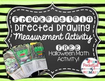 FREEBIE - Frankenstein Monster Directed Drawing Measuremen
