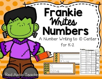 FREEBIE--Frankie's Number Writing--Numeral Writing Center for K-2
