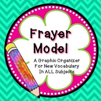 FREEBIE! Frayer Model Graphic Organizer