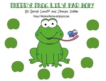 FREEBIE!  Freddy Frog Lily Pad Hop Game