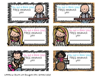 FREEBIE Free Homework Passes English & Spanish