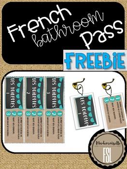 FREEBIE - French Bathroom/Hall Pass Luggage Tags