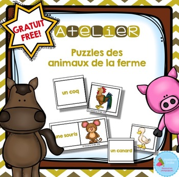 FREEBIE French Farm Animals Puzzles/ Casse-tête {Animaux d