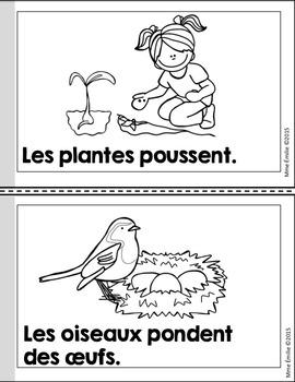 FREEBIE French Spring Emergent reader mini-books/Les petits livres {Printemps}