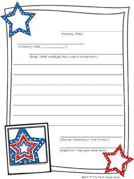 FREEBIE Patriotic Friendly Letter Writing Sample {July} ~ Templates