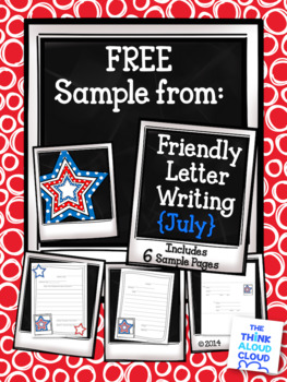 Freebie Fourth Of July Friendly Letter Writing Templates Tpt