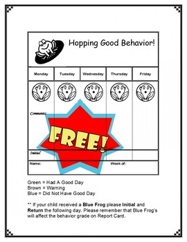 FREEBIE Frog Themed Behavior System