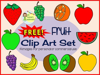 FREEBIE - Fruit Clip Art Set - 19 images for personal or commercial use