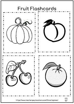 FREEBIE - Fruits Activity Pack - BlackWhite