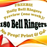 FREEBIE - Full Year Bell Ringer Preview!