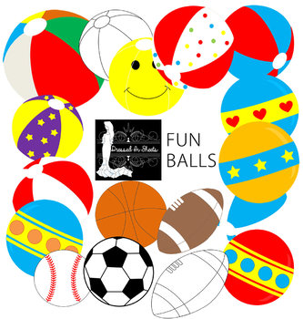 FREEBIE Fun Balls Clipart