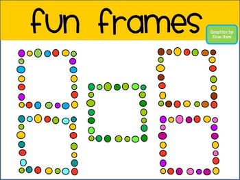 FREEBIE!!! Fun Frames Clip Art - Borders - Dots Doodle Squ