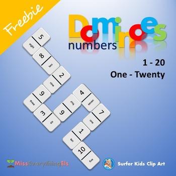 FREEBIE - GAMES - DOMINOES FOR NUMBERS