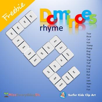 FREEBIE - GAMES - DOMINOES FOR RHYMING WORDS