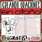 FREEBIE! ¡GRATIS! Creando Oraciones en OTOÑO en español