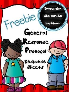 FREEBIE:  GRP Response Sheets