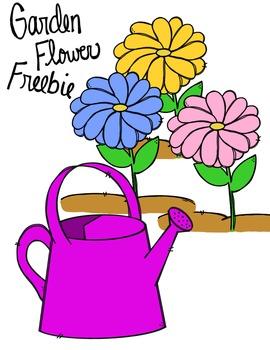 FREEBIE! Garden Flower Clipart