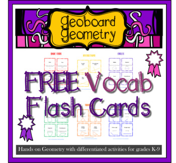 FREEBIE Geoboard Geometry Vocab flash cards