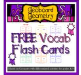 FREEBIE Geoboard Geometry Vocab flash cards