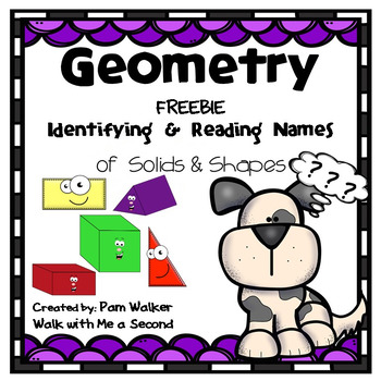 FREEBIE Geometry Solids and Shapes