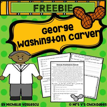 FREEBIE! George Washington Carver Comprehension Passage