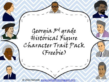 FREEBIE!  Georgia Historical Figure Character Traits
