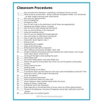 FREEBIE: Getting Ready / Procedures (EDITABLE)