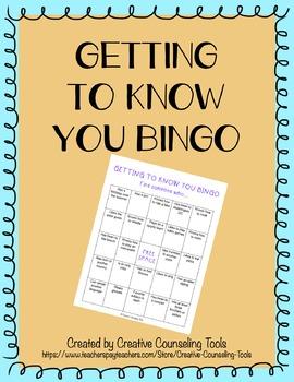 FREEBIE Getting To Know You Bingo