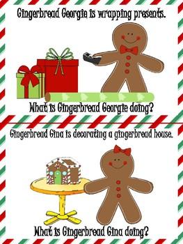 FREEBIE Gingerbread Friends Pronoun Mini Book!