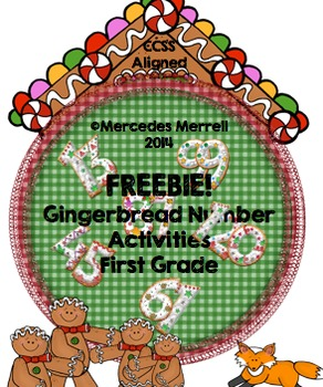 FREEBIE!  Gingerbread Number Activities First Grade