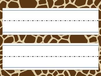 {FREEBIE} Giraffe Name Tags