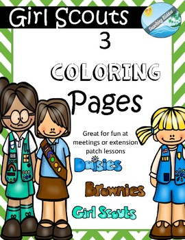 Coloring Pages For Girls Girl Power Scouts Printable ... | 350x270