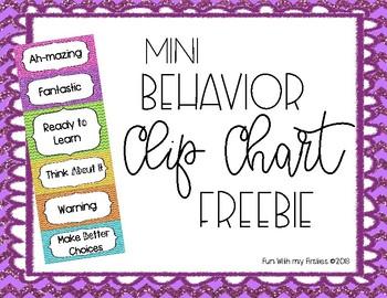 FREEBIE Glitter Chevron Mini Clip Charts
