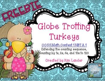 FREEBIE Globe Trotting Turkeys  Math Puzzles