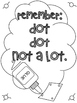 FREEBIE - Glue & Q-Tip Fun Worksheets
