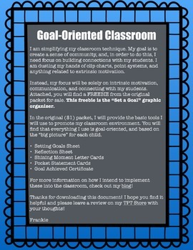 FREEBIE Goal Setting Graphic Organizer