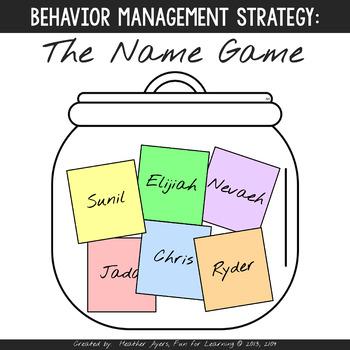 Good Behavior Name Game