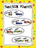 "FREEBIE ""Goodbye Summer, Hello Fall"" ALL Season Poetry Packet"
